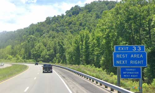 kentucky mountain parkway junior williams rest area mile marker 33 eastbound exit