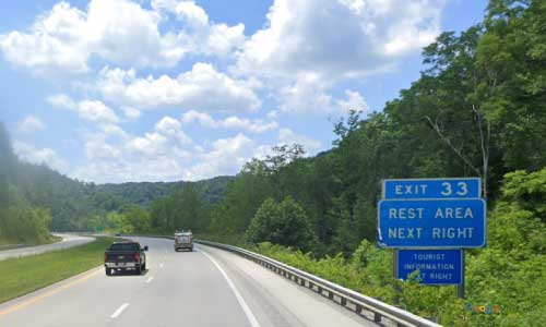 kentucky mountain parkway junior williams rest area mile marker 33 westbound exit