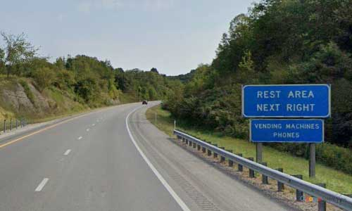 ky interstate 64 kentucky i64 carter county rest area mile marker 174 eastbound exit