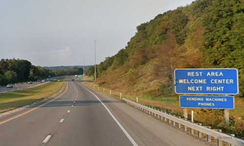 ky interstate 64 kentucky i64 county welcome center mile marker 173 westbound exit