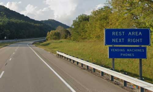 ky interstate 64 kentucky i64 rowan county rest area mile marker 141 westbound exit