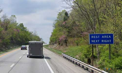 ky interstate 71 kentucky i71 oldham county rest area mile marker 13 southbound exit
