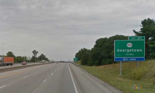 ky interstate 75 kentucky i75 scott county rest area mile marker 127 northbound exit